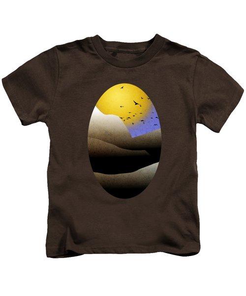 Mountain Sunset Landscape Art Kids T-Shirt by Christina Rollo