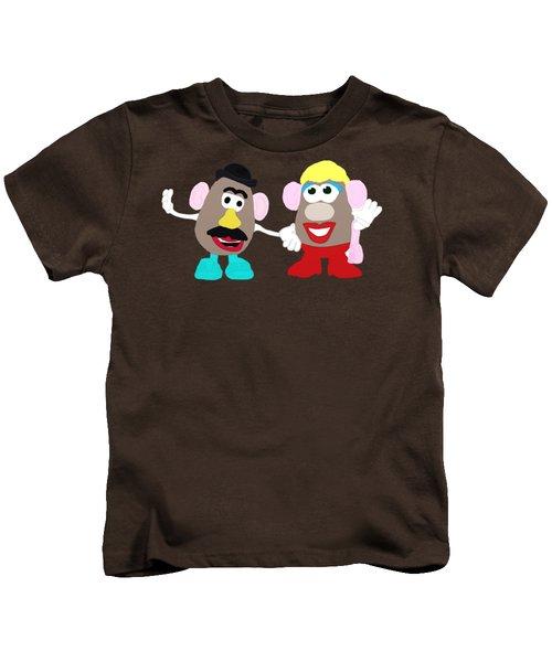 Mr. And Mrs. Potato Head Kids T-Shirt by Priscilla Wolfe