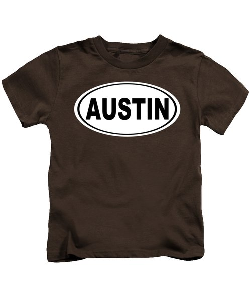 Oval Austin Texas Home Pride Kids T-Shirt by Keith Webber Jr