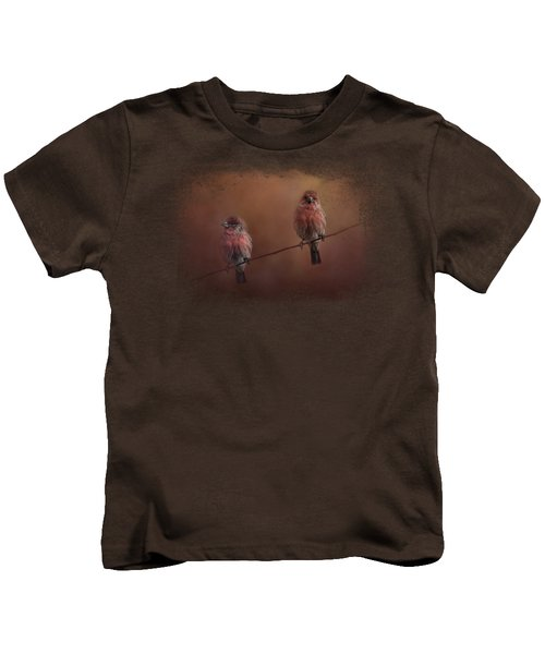Pair Of Finches Kids T-Shirt by Jai Johnson