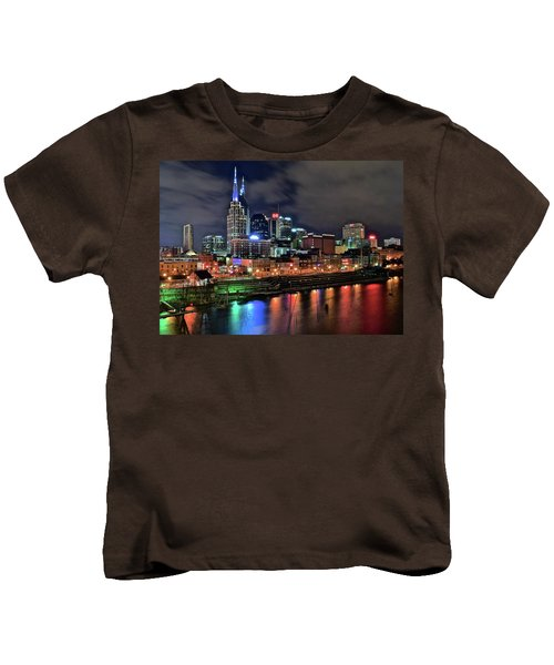 Rainbow On The River Kids T-Shirt by Frozen in Time Fine Art Photography