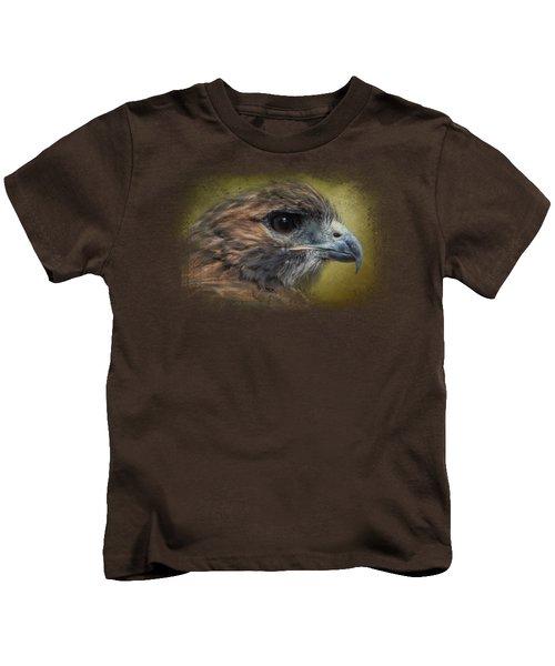Red Tailed Hawk At Reelfoot Kids T-Shirt by Jai Johnson