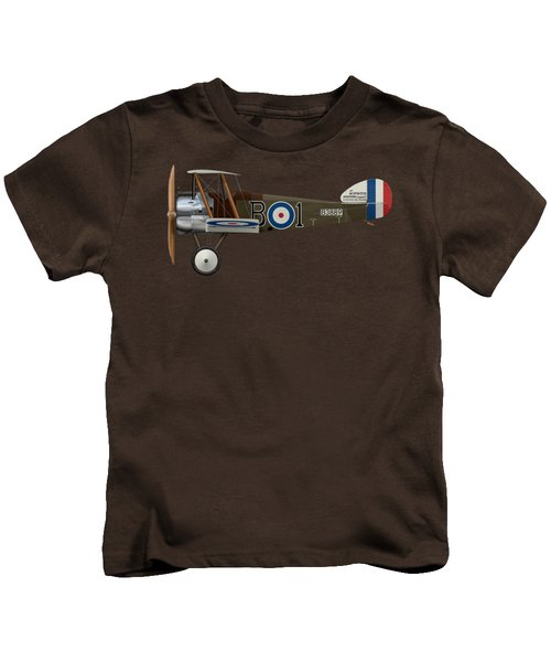 Sopwith Camel - B3889 - Side Profile View Kids T-Shirt by Ed Jackson
