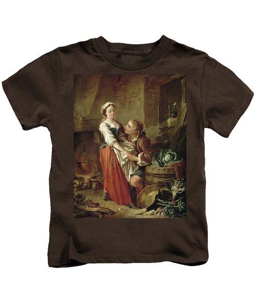 The Beautiful Kitchen Maid Kids T-Shirt by Francois Boucher