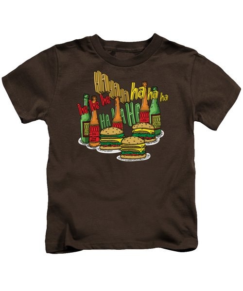The Big Lebowski  Some Burgers Some Beers And A Few Laughs  In And Out Burger Jeff Lebowski Kids T-Shirt by Paul Telling