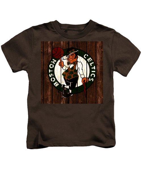 The Boston Celtics 2c Kids T-Shirt by Brian Reaves