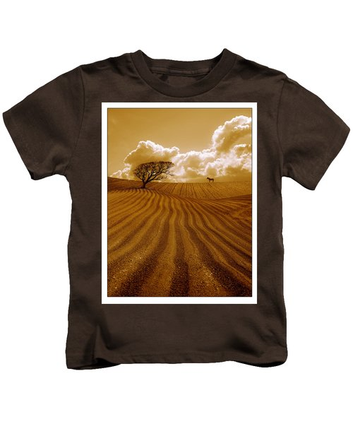 The Ploughed Field Kids T-Shirt by Mal Bray