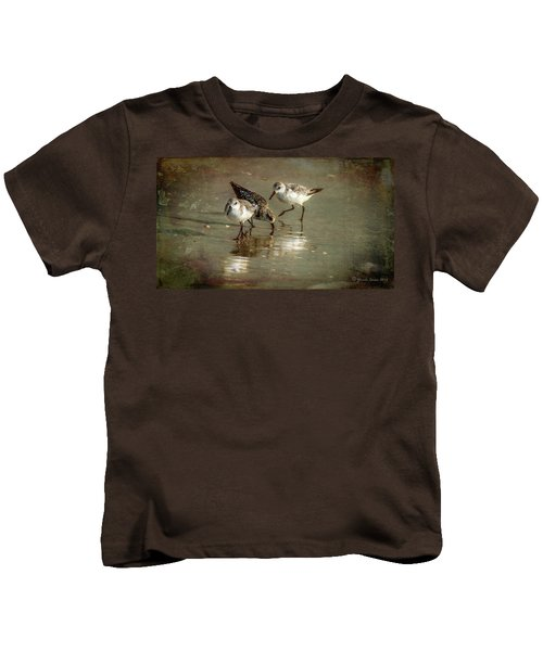 Three Together Kids T-Shirt by Marvin Spates