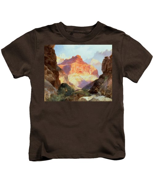 Under The Red Wall Kids T-Shirt by Thomas Moran