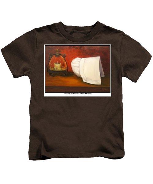 University Of Minnesota School Of Nursing Kids T-Shirt by Marlyn Boyd