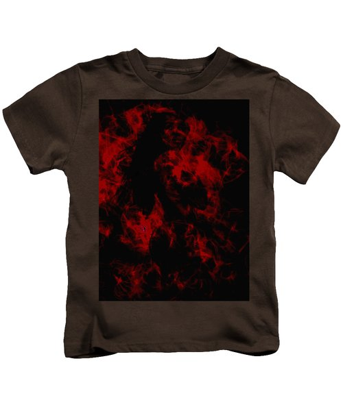 Venus Williams On Fire Kids T-Shirt by Brian Reaves