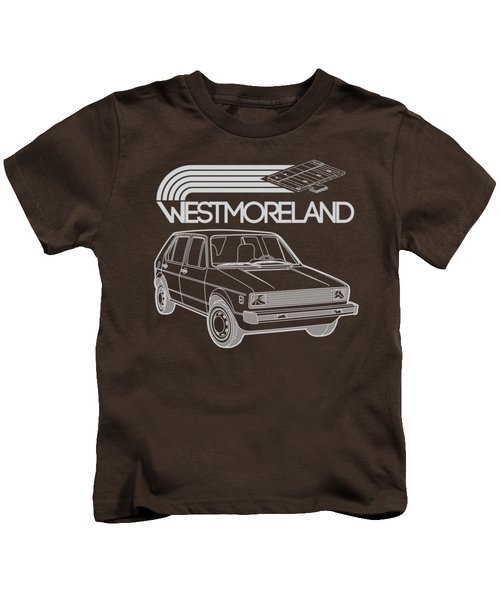 Vw Rabbit - Westmoreland Theme - Gray Kids T-Shirt by Ed Jackson