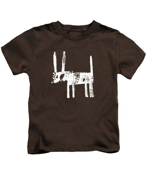 White Kids T-Shirt by H James Hoff