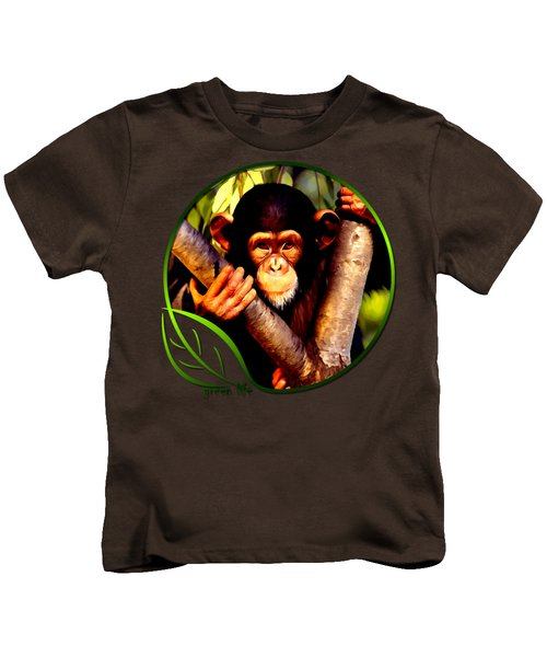 Young Chimpanzee Kids T-Shirt by Dan Pagisun