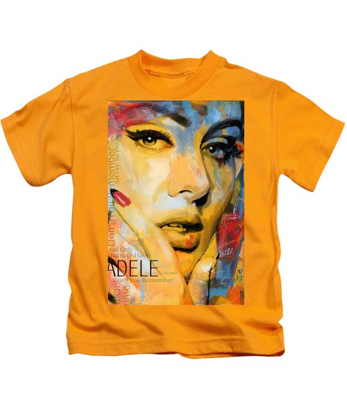 Adele Kids T-Shirt by Corporate Art Task Force