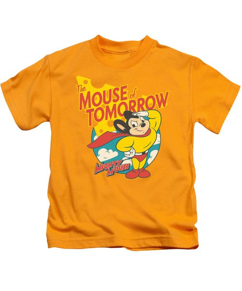Mighty Mouse - Mouse Of Tomorrow Kids T-Shirt by Brand A