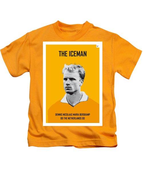 My Bergkamp Soccer Legend Poster Kids T-Shirt by Chungkong Art