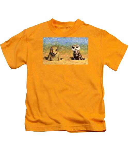 Neighbors Kids T-Shirt by James W Johnson
