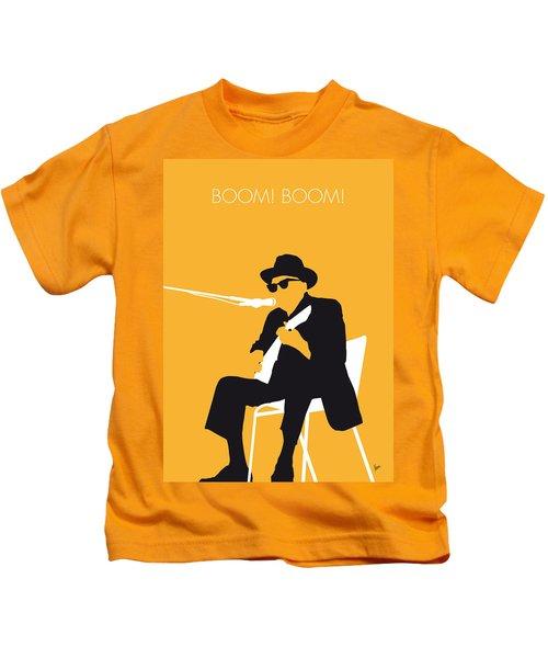 No054 My Johnny Lee Hooker Minimal Music Poster Kids T-Shirt by Chungkong Art