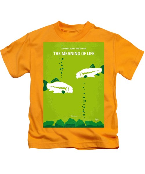 No226 My The Meaning Of Life Minimal Movie Poster Kids T-Shirt by Chungkong Art