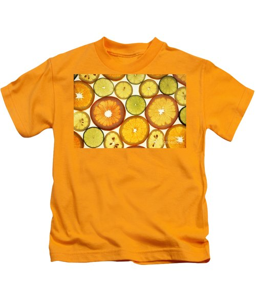 Citrus Slices Kids T-Shirt by Photo Researchers