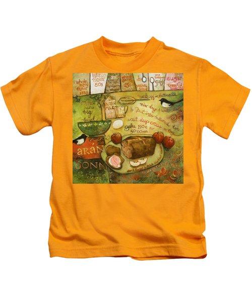 Irish Brown Bread Kids T-Shirt by Jen Norton