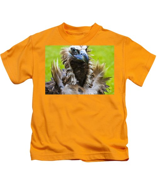 Monk Vulture 4 Kids T-Shirt by Heiko Koehrer-Wagner