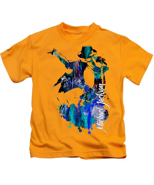 Michael Jackson Collection Kids T-Shirt by Marvin Blaine