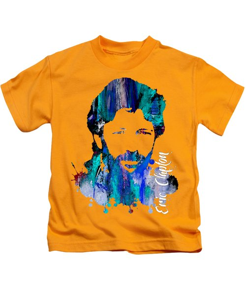 Eric Clapton Collection Kids T-Shirt by Marvin Blaine