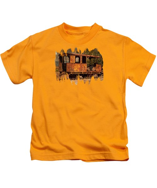 All Aboard The Excursion Car Kids T-Shirt by Thom Zehrfeld