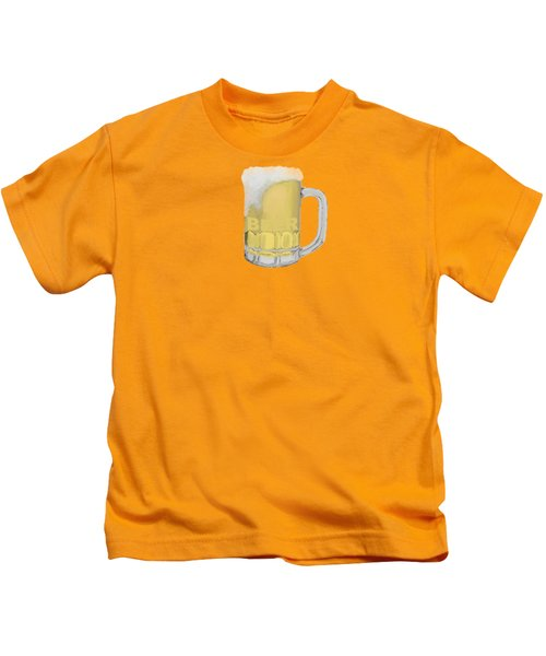 Beer Kids T-Shirt by Priscilla Wolfe