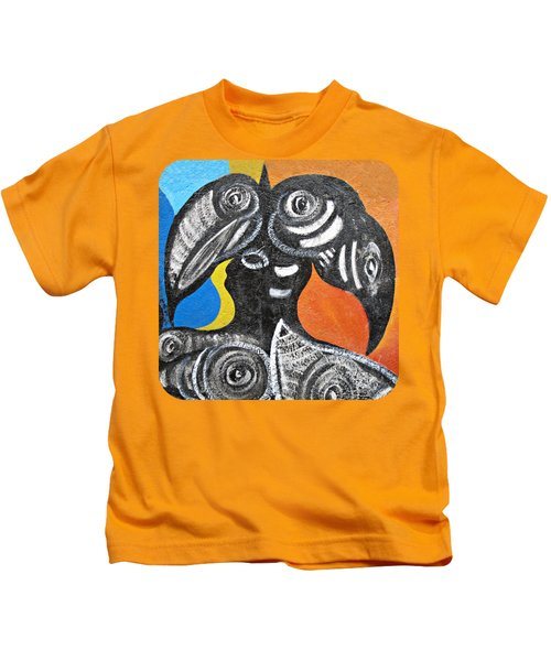 Two Toucans Kids T-Shirt by Ethna Gillespie