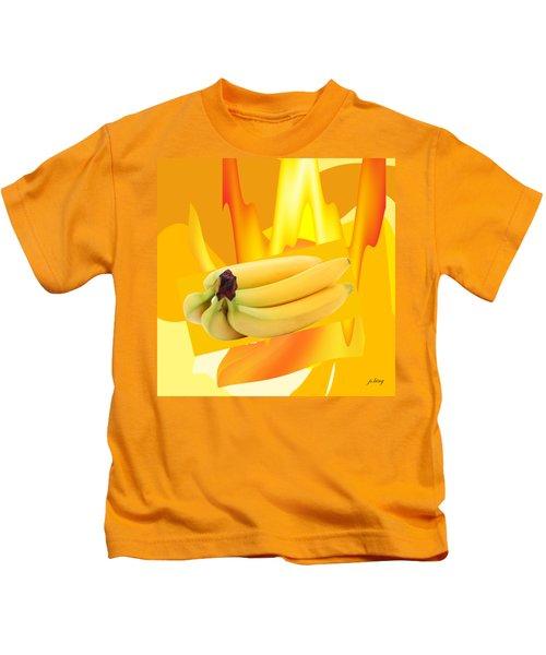 Banana Boat Kids T-Shirt by Jacquie King