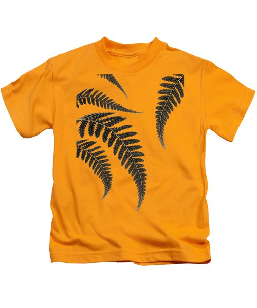 Fern Leaves Kids T-Shirt by Mark Rogan