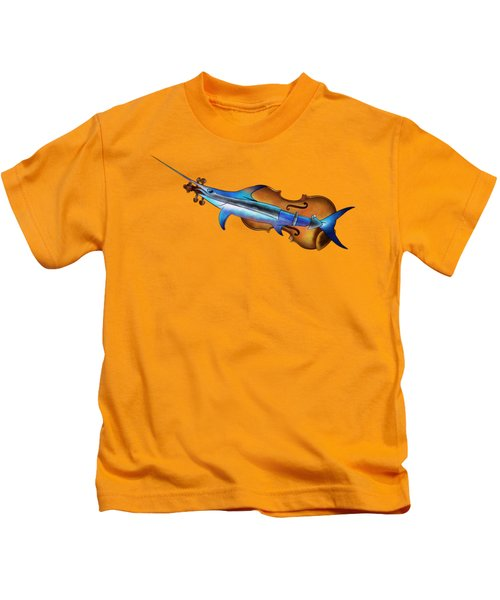 Fisholin V1 - Instrumental Fish Kids T-Shirt by Cersatti
