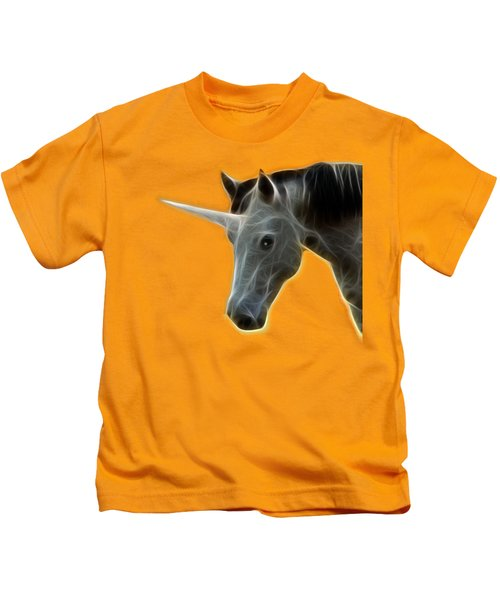 Glowing Unicorn Kids T-Shirt by Shane Bechler