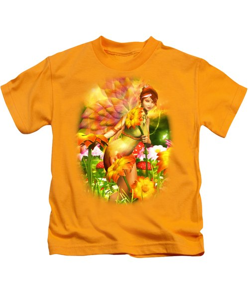 Golden Adornments Kids T-Shirt by Brandy Thomas