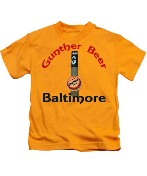 Gunther Beer Baltimore Kids T-Shirt by Jost Houk