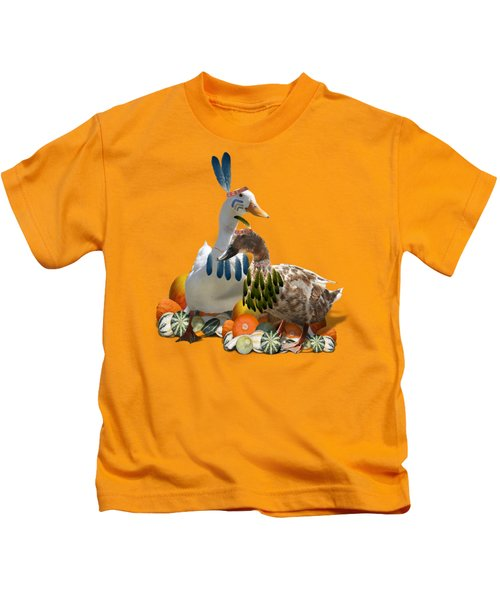Indian Ducks Kids T-Shirt by Gravityx9 Designs