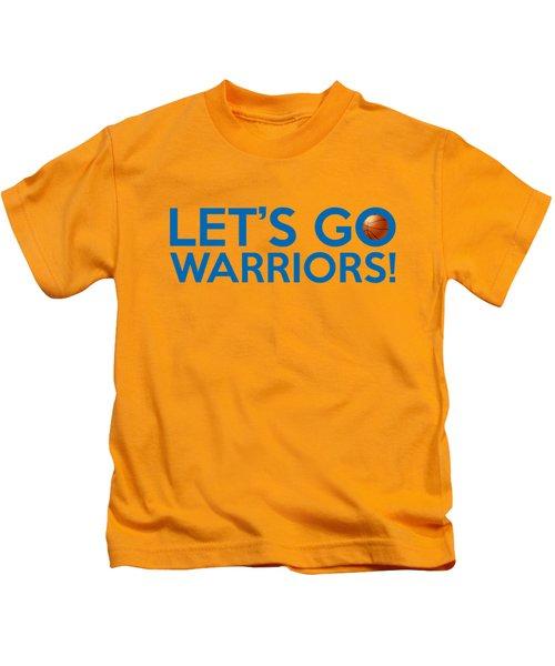 Let's Go Warriors Kids T-Shirt by Florian Rodarte