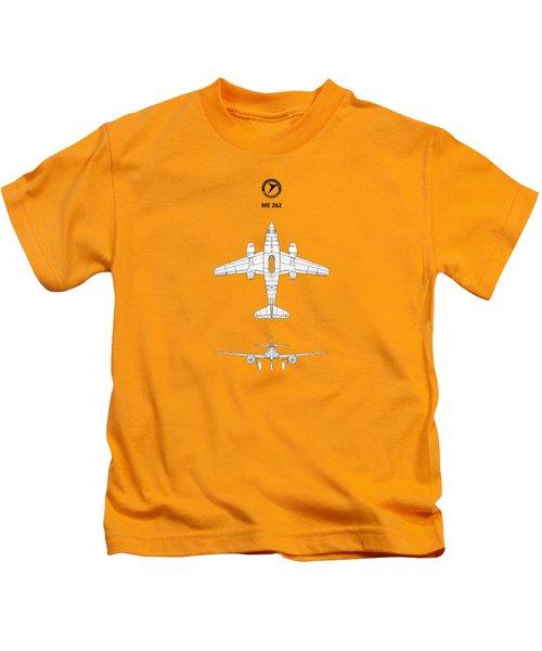 Messerschmitt Me 262 Kids T-Shirt by Mark Rogan