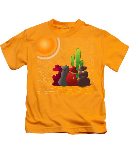 Midday Siesta Kids T-Shirt by Methune Hively