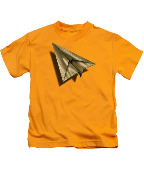 Paper Airplanes Of Wood 18 Kids T-Shirt by YoPedro