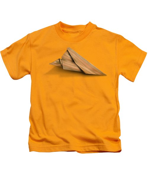 Paper Airplanes Of Wood 2 Kids T-Shirt by Yo Pedro