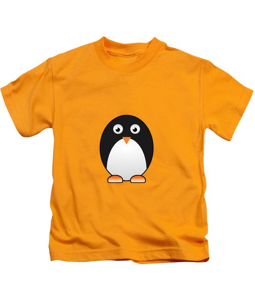 Penguin - Birds - Art For Kids Kids T-Shirt by Anastasiya Malakhova
