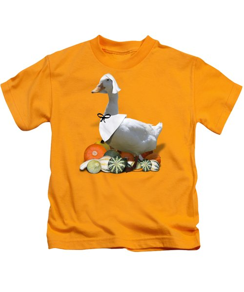 Pilgrim Duck Kids T-Shirt by Gravityx9 Designs
