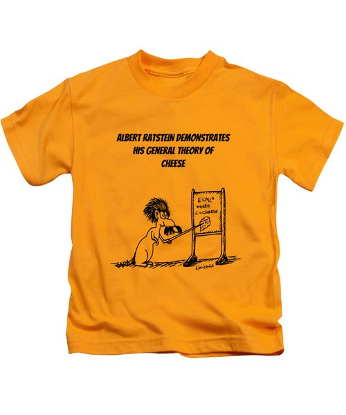 The General Theory Of Cheese Kids T-Shirt by Kim Gauge