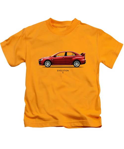 The Lancer Evolution X Kids T-Shirt by Mark Rogan