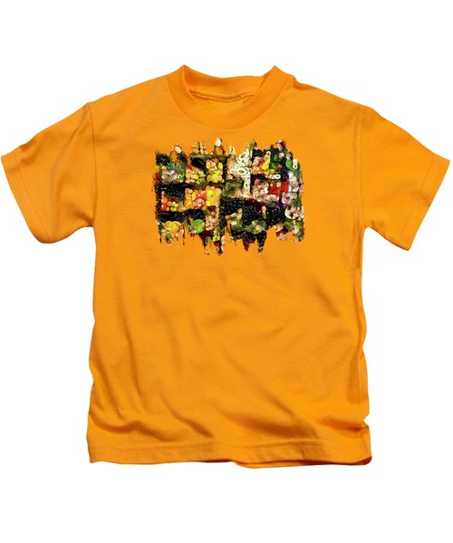 Veggies And Fruit Galore Kids T-Shirt by Thom Zehrfeld