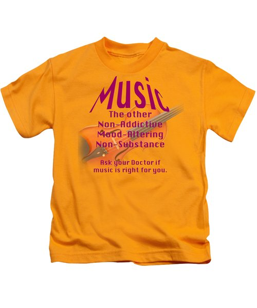 Violin Or Viola Music Is Right For You 5499.02 Kids T-Shirt by M K  Miller